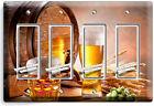 BEER BARREL MUG GLASS HOPS LIGHT SWITCH OUTLET WALL PLATE KITCHEN DINER HD DECOR