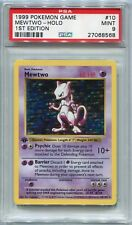 Pokemon Card 1st Edition Shadowless Mewtwo Base Set 10/102, PSA 9 Mint