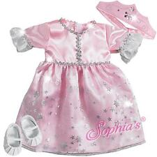 "Pink Princess Costume and Crown fit 15"" Baby Doll Dollie Dolly outfit clothing"