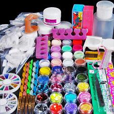 Acrylic powder UV Primer Gel Nail Art False Tips Dappen Dish Brush Tool Kit Sets