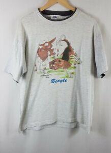 Vintage Beagle Dog McCartney 1992 T Shirt Extra Large XL Single Stitch Grey Vtg