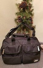 Jeep Baby Traveler Duffle Diaper Bag Black Pockets Easy Access Travel Unisex EUC