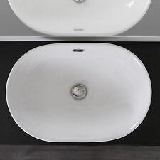 Lavabo a incasso soprapiano in ceramica 60x40 cm lavandino bagno promo speciale
