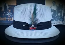 Mens Traditional Lt Gray Lowrider Original Frankshats Garcia hat Fedora with pin