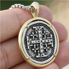 Pendant Necklace Crusaders Cross Templar Mens Hebrew Jewelry