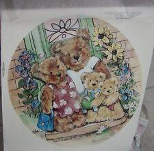 "Teddy Bears ~ Rub On Tatouage ~ Bears Cubs ~ Our New Home ~ 7-1/4"" ~ Awesome!"