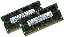 2x 4gb 8gb ddr3 1333 de RAM para Toshiba Satellite c660d-15h Samsung pc3-10600s