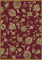 "Traditional Red Oriental Floral Area Rug 8x11 Persien Carpet - Actual 7'8""x10'4"""