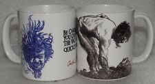 AUSTIN OSMAN SPARE -  2 NEW COLLECTABLE 11oz MUGS FEATURING  DRAWINGS & QUOTE