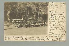Salina KANSAS RP 1906 DELIVERY WAGON Grocery Store nr WHITE & HOCKENSMITH