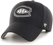 Montreal Canadiens '47 NHL MVP Structured Adjustable Black White Hat Cap Hockey
