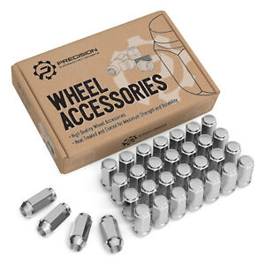 20pcs 1.87 Chrome 14mm X 1.50 Wheel Lug Nuts fit 2007 Ford F-250 Super Duty May Fit OEM Rims Buyer Needs to Review The spec