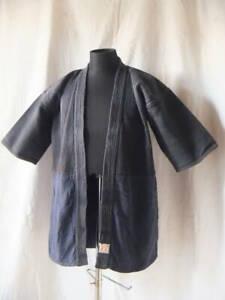Vintage Indigo Kendo Jacket uniform L Size Japanese Martial Arts Japan Blue F/S