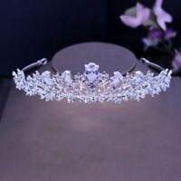 Crystal Tiara Pearl Headband Rhinestone Wedding Bride Bridal Crown Hair Princess