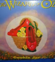 Wizard of Oz Ruby Slippers Ceramic Cookie Jar in the Original Box