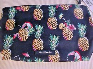 Vera Bradley Large Lighten Up Cosmetic Bag Toucan Party 15759-Q60 Zipper NWT