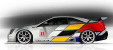 2011 CADILLAC CTS V RACE CAR ART POSTER PRINT STYLE A 16x36