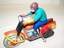 Vieja poco común chapa juguetes motociclista ruso marca