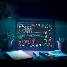 Erasable Neon LED Message Writing Board Menu Sign Home Sign Box 44CM x 33CM