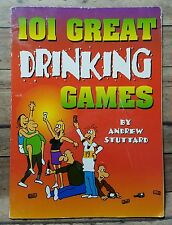 101 Great Drinking Games by Andrew Stuttard Paperback Book 1997 Party Alcohol