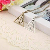 Movie Harry Potter Deathly Hallows Hot Metal Silver Pendant Necklace Chain Gift