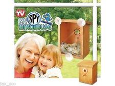 My Spy Birdhouse with Bonus Bird Feeder - Attach to Window - Watch & Feed Birds