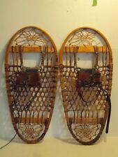 Vintage 1944 US C.A. Lund 13x28 Military Snowshoes Hastings, Minn (WW2 Era)