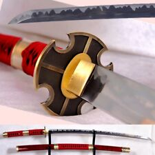 Sandai Kitetsu Roronoa Zoro Katana Samurai Battle Sword Honsanmai steel #502