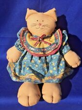 Antique Primitive Laurel Burch Cat Kitten Doll UNIQUE Design ▬ Fish & Chips ▬ ❤️