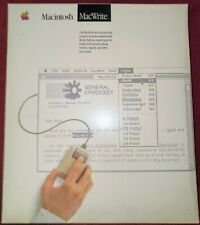 Apple Macintosh MACWRITE BOXED, shrink wrapped and a floppy disk (untested)
