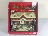 NEW Eluceo Animated Musical Light Up Christmas House Santa Reindeer VIDEO BELOW