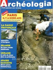 Archéologia n°370 - 2000 - La Gaule provencale - Dolmens ardéchois - Chasse arc