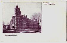 c1910 Osage Iowa Postcard Advertisement Church Mitchell