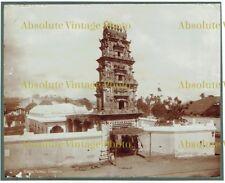 OLD ALBUMEN PHOTOGRAPH HINDOO TEMPLE SINGAPORE MALAYSIA ANTIQUE C.1880