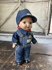 buddy lee Composite advertising doll denim union made 1940's Antique Overalls