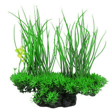 AM_ Artificial Decor Long Leaf Plant Fake Water Grass for Aquarium Tank Quite Vi