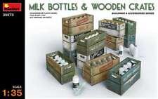 Miniart 1/35 Milk Bottles & Wooden Crates  #35573  *new release*