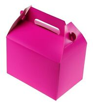 24 HOT PINK PARTY TREAT BOXES FAVORS GOODY BAG BAZAAR PRIZE GIFT BASKET CARNIVAL