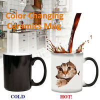 Cat Lover Morphing Mug Heat Sensitive Color Changing Coffee Mugs Cup Gifts 350ml