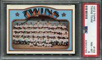 1972 Topps #156 Twins Team Card PSA 8 NM-MT