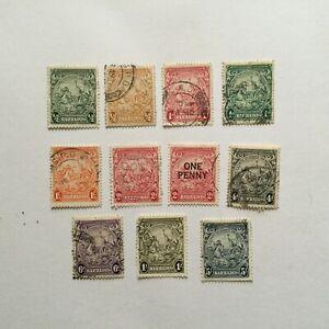 BARBADOS 1938 GVI Definitives lot to 5s fu cv circa£25 (K222)