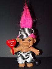 "Troll Doll 4 1/2"" Russ Valentine's Day / Anniversary Prison of Love Pink Hair"