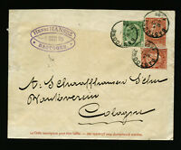 Z0092) Belgien Belgium uprated cover Bastogne 4.9.1895 to Germany