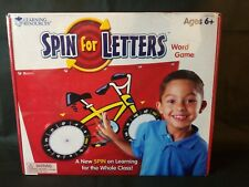 NIB Learning Resources SPIN FOR LETTERS Wheel GAME Word Skills Homeschooling