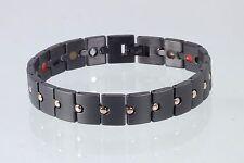 Cristor Armband Damen Herren schwarz Titanband Cristor Magnetschmuck TE8237BLRG