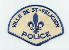 Ville de St-Felicien Police, Quebec, Canada HTF Vintage Uniform/Shoulder Patch