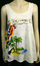 ED Hardy Women's Shark Rose Tank cover-up One Size NWT