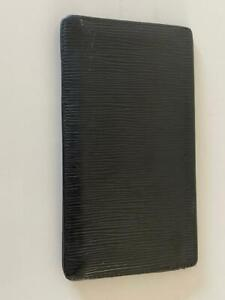 LOUIS VUITTON Epi Checkbook Organizer Wallet Black