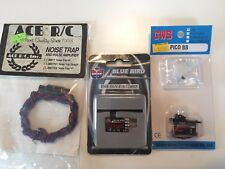 GWS RC Pico BB Servo, Blue Bird Micro Receiver 4ch, Ace RC Noice Trap Y