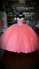 Pink Embroidery Ball Gown Quinceanera Dress For 15 Year Prom Party Dress Custom